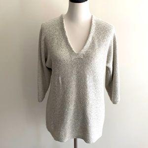 •Lilla P• Nubby V-neck Sweater, EUC